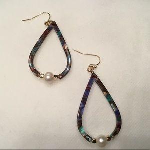 Jewelry - Teardrop Acetate Drop Earrings